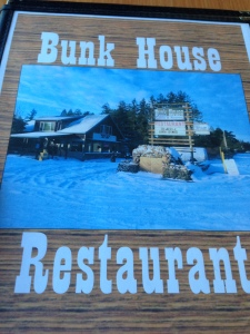 the menu at the bunk house restaurant