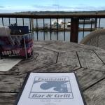 Outside patio and menu